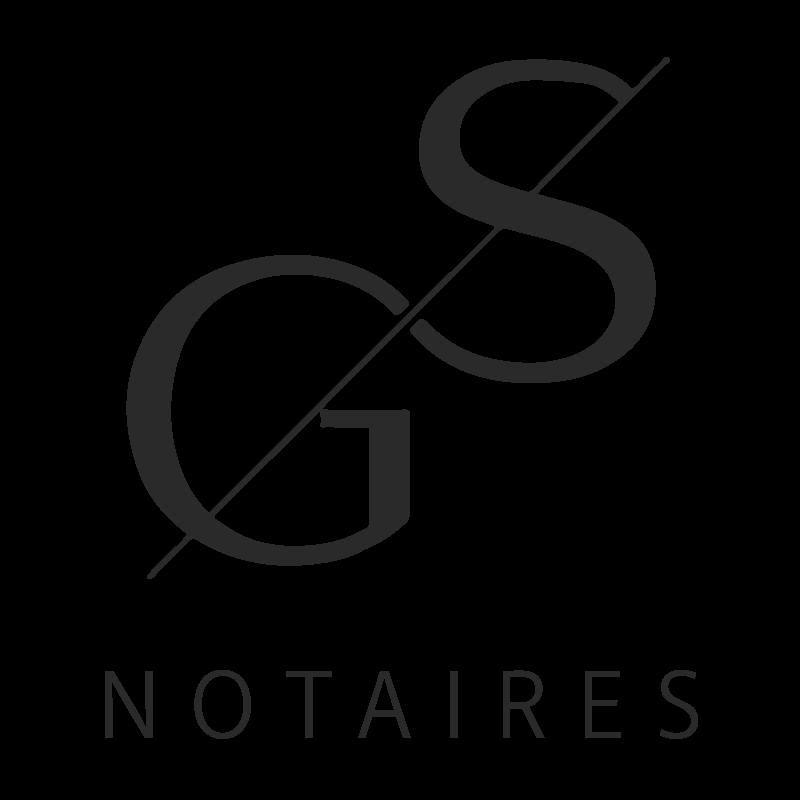 Logo GS Notaires noir